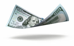 New Hundred dollar banknote Stock Photography