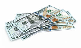 New Hundred dollar banknotes Stock Photo