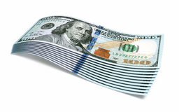 New Hundred dollar banknotes Stock Photography