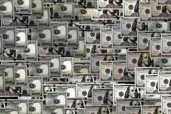 New hundred dollar bill for business background Stock Image