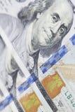 New hundred dollar bill closeup Royalty Free Stock Image