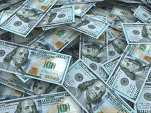 New hundred dollar bill stacks Stock Image