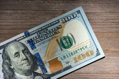 New hundred Dollar Bills Royalty Free Stock Photos