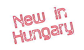 New In Hungary rubber stamp Stock Photos