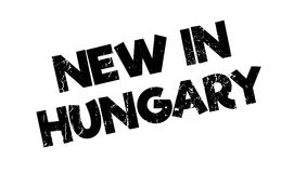 New In Hungary rubber stamp Stock Image
