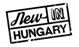 New In Hungary rubber stamp Stock Photography