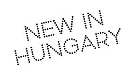 New In Hungary rubber stamp Royalty Free Stock Images