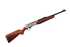 New hunting rifle with engraving Stock Image