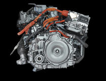 New hybrid Car Engine Royalty Free Stock Photography