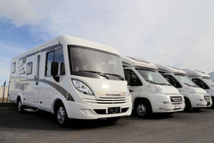 New Hymer Motorhomes Royalty Free Stock Photo