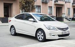 New Hyundai Elantra Avante parked on the street of Sochi. Stock Images