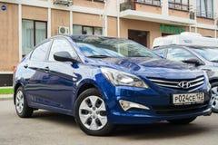 New Hyundai Elantra Avante parked on the street of Sochi. Stock Photos