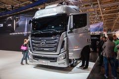 New Hyundai Xcient P520 6x2 Truck Stock Images