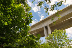New I-71 Jeremiah Morrow Bridges over Little Miami Gorge. Work on the new bridges that replaced the original structures was completed in 2016. The concrete box Stock Photo
