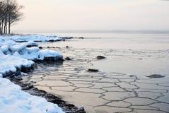 New ice at coast Royalty Free Stock Photos