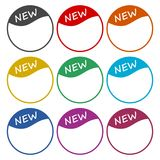 New icon, color icons set. Simple vector icon Royalty Free Stock Image