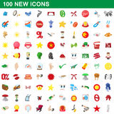 100 new icons set, cartoon style. 100 new icons set in cartoon style for any design vector illustration Stock Photography