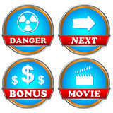 New icos set Stock Images