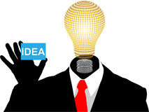New idea. Businessman with new idea vector illustration Royalty Free Illustration
