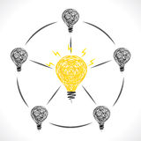 New idea of center bulb design concept Stock Images