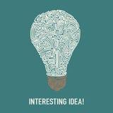 New idea conceptual illustration Royalty Free Stock Photography