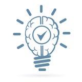 New idea human brain lightbulb Stock Photo