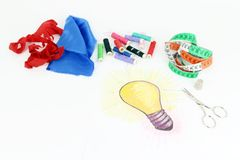 New idea industry and handicraft Stock Photos