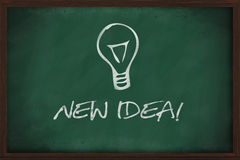 New idea lightbulb blackboard Royalty Free Stock Photos