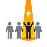 New idea - pictogram people Stock Image