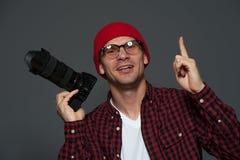 Handsome man posing in studio stock photography