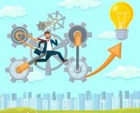 New Idea in Startup. Vector Flat Illustration. vector illustration