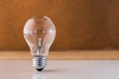 New ideas concept light bilb with white floor.jpg Royalty Free Stock Photos