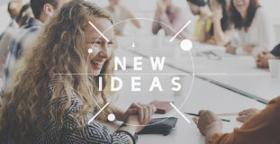 New Ideas Creativity Design Inspiration Imagination Concept. People Having New Ideas Creativity Design Inspiration Imagination Royalty Free Stock Image