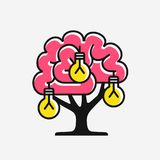 New ideas generation. Concept of inventing ideas, vector illustration Royalty Free Stock Photos
