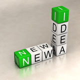 New ideas. Words made of cubes Stock Photography