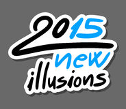 2015 new illusions message. Creative design of 2015 new illusions message Stock Illustration