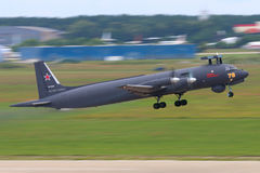 New Ilyushin IL-38N makes first flight in Zhukovsky, Moscow region, Russia. ZHUKOVSKY, MOSCOW REGION, RUSSIA - JUNE 30, 2015: New Ilyushin IL-38N makes first Royalty Free Stock Images
