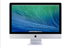 New iMac 27 With OS X Mavericks Royalty Free Stock Photo