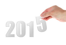 New 2015. Image to use in an optimistic view on year 2015. Can be also used for review of the year 2015 Royalty Free Stock Photos
