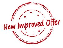 New improved offer. Rubber stamp with text new improved offer inside,  illustration Stock Photo