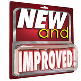 New and Improved Product Package Better Latest Update Stock Image