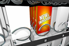 New and Improved Product Snack Machine Better Update Royalty Free Stock Images