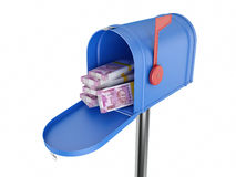 New Indian Currency with Mail Box Royalty Free Stock Photos