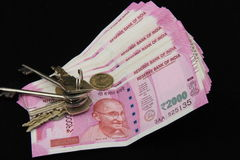 New Indian currency notes Royalty Free Stock Images