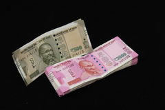 New Indian currency notes Royalty Free Stock Image