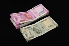 New Indian currency notes Royalty Free Stock Photo