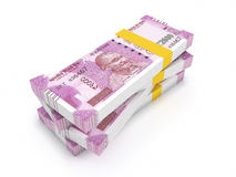 New Indian Currency 2000 rupees. New Indian Currency - 3D Rendered Image Stock Image