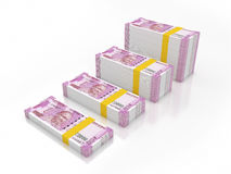 New Indian Currency 2000 rupees Stock Photo