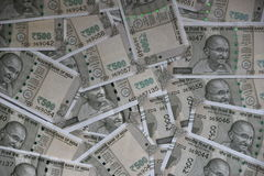 New Indian 500  Rupee currency notes, whole background. New Indian 500 Rupee currency notes, whole background Stock Image
