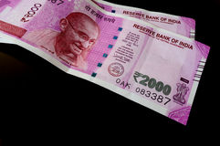 New indian 2000 Rupee notes Royalty Free Stock Photography